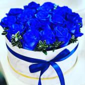 Box di rose blu
