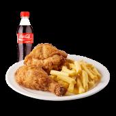 Combo 4 - 1/4 de pollo (preparación a elección), papa frita pequeña
