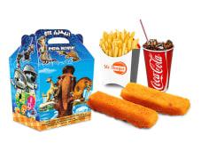 Рыбные палочки + фри + напиток на выбор + маленькая игрушка