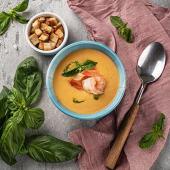 Крем суп з лосося та креветками (270г)