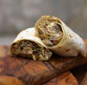 Burrito de ternera salteada con chimichurri