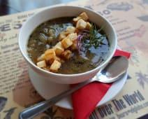 Zupa cebulowa z grzanką 250ml