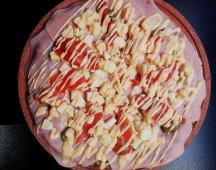 Pizza entera palmitos