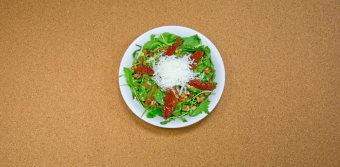 Salata de rucola cu Kefalotyri
