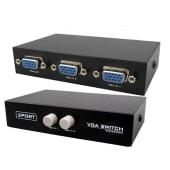 Switch Vga 2 Puertos Hub Selector-2 Equipos En Mismo Monitor