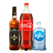 Cartavio Black Barrel 750 Ml + Coca Cola 1 Lt + Hielo 1.5 Kg