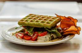 Waffle Masa de Espinaca