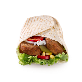 Falafel vege tortilja – mala