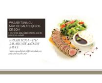 Wasabi tuna cu mixt de salate si sos de soia