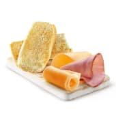 Tostada de jamón y queso