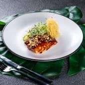 Запечений лосось з різотто із цукіні (250г)
