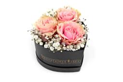 Caja Corazón 3 Rosas