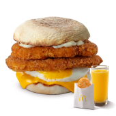 McMuffin de Pollo Doble y Huevo