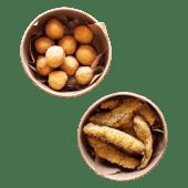 Hapsy z dorsza & kulki serowe XL set