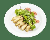 Салат з курки в медово-гірчичному соусі (200г)