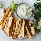 Cassava Fries and Guacamole