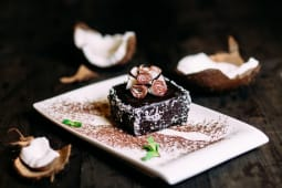 Шоколадно-кокосове тістечко (веган) (200г)