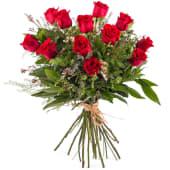 Ramo de 6 rosas rojas variado