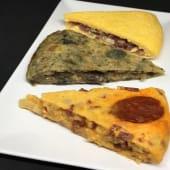 Pack con 3 trozos de tortilla con sabor picante o intenso