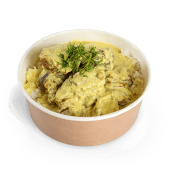 Pui cu orez și sos curry cu lemongrass și coriandru
