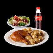 Combo 7 light 1/4 - 1/4 de pollo asado, 1 porción de papa perejil.
