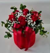 Flower box crvene ruže srednji