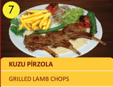 Kuzu pirzola  - grilled lamb chops 3pcs