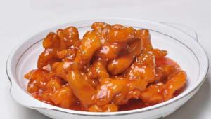 59. Pollo con salsa agridulce