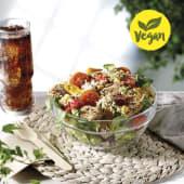 Ensalada quinoa con heura vegan