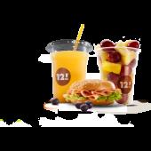 Combo Savory con Juice e frutta