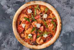 Піца з креветками і руколою (420г)