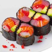 Рол з лососем та тунцем без рису (180г)