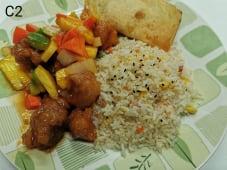 C2 - Arroz Chao Chao com Porco Agridoce + 1 Crepe Chinês