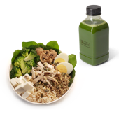 Menú ensalada súper protein + zumo (500 ml.)