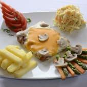 Escalope de carne milanesa