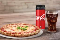 Pizza patatine e wurstel + Coca-Cola Zero Zuccheri 33cl
