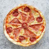 პიცა პროშუტო და სალიამი 4 ნაჭერი
