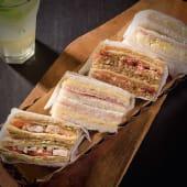 Sándwiches de miga con jamón y queso (12 uds.)