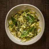 Espaguettis de Calabacin al Pesto