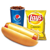 Combo queso dog + papas Lay's + soda (21 oz.)