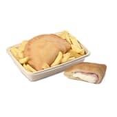 Menù panzerotto prosciutto + patatine fritte
