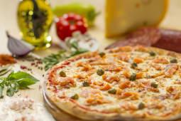 Pizza Somon fume si capere Ø 30cm