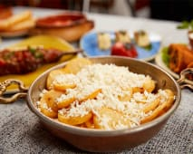 Peynirli patates kizartmasi