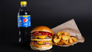 The man burger menu