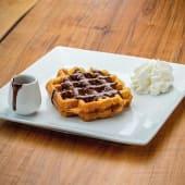 Waffle con cioccolato nerofuso