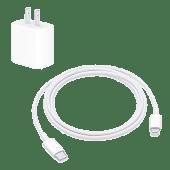 Apple cargador 18W carga rápida y cable lightning - iPhone