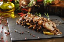 Вирізка свинини під ялівцевим соусом (280г)