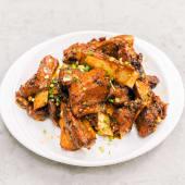 Honey glazed pork spare ribs
