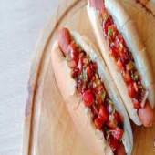 Hot Dog (with Kachumbari)