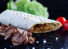 Kebab de carne de vita shaorma
